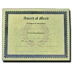 Custom Stock Award of Merit Antique Parchment Certificate