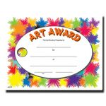 Custom Art Award Stock Certificate