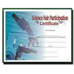 Custom Science Fair Participation Stock Certificate w/ Microscope Photo