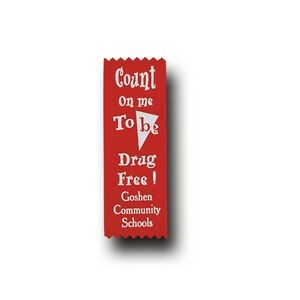 Red Custom Count on Me to be Drug Free Econo Drug Free Ribbon