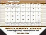 Custom Desk Pad Calendar w/Notation Field on 2 Sides