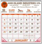 Custom Half Apron Calendar (White/Red)