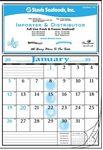 Custom 12-Sheet Calendar w/Open Date Blocks & Notation Space