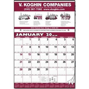Contractor/Production Scheduling 12 Sheet Calendar
