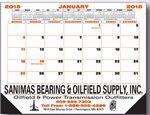 Custom Desk Pad Calendar w/1 Year Calendars Top