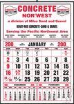 Custom Large Half Apron Calendar w/Optional Pad