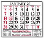 Custom 12 Sheet Wall Pad Calendar w/Large Bold Dates
