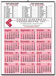 Custom Athletic Sport Schedule Calendar