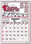 Custom Large Size Memo 12 Sheet Calendar w/Lines