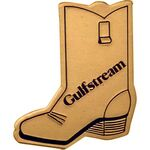 Custom Gold Aluminum Cowboy Boot Bolo Tie/ Die Struck