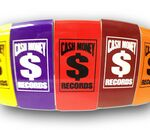 Custom Color Coated/ Gold or Silver Rectangle Aluminum Money/ Clip - Screen Printed