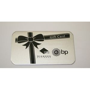 "3.5"" x 2"" Aluminum Business / Membership card w/a Die Struck, Color filled imprint. USA"