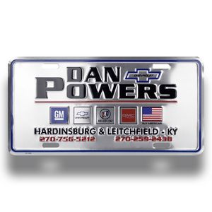 Custom Embossed Metal Auto License Plate (6x12)