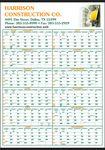 Custom Full-Color Ad & Screen Built 2-Color Pad Year-In-View Calendar