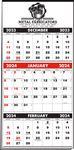 Custom 3-Months-In-View Multi-Sheet 1-Color Calendar (Red & Black Pad)