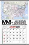 Custom Large U.S. Map Full Apron Calendar