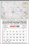 Custom Large State Maps-Full Apron Calendar-Iowa