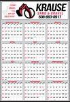 Custom Large Year-In-View Calendar w/ 2-Color Imprint
