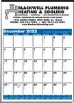 Custom Memo-Minders-Multi-Sheet 1-Color Calendar (Blue & Black)