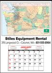 Custom Washington State Map Calendar - Small Full Apron