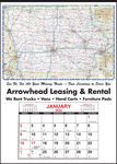 Custom Small State Maps-Full Apron Calendar-Iowa