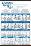 Custom Printed in 2 PMS Colors Year-In-View-Calendar (Same For Ad & Pad)