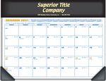 Custom Foil Ad Copy Executive Desk Pad Calendar
