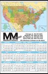 Custom Color Coded USA Map Year-In-View Calendar