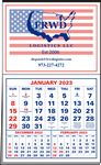 Custom 3 Month in View 2-Color Imprint Half Apron Calendar