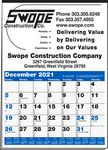 Custom Multi-Sheet 1-Color Large Ad Calendar (Blue & Black)