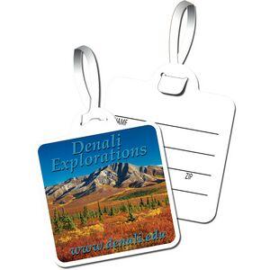 Square Plastic Easy-Lock� Bag Tag (Full Color)