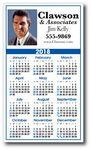 Custom Utility Year at a Glance Calendar w/ Top Ad Space (3 1/2