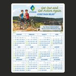 Custom Year at a Glance Full Color Plastic Write-On / Wipe off Wall Calendar