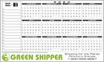 Custom Premium Plastic Write-on/ Wipe-off Year-at-a-Glance Calendar (Horizontal)
