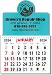 Custom Designer Shaped Kwik-Stik Textured Vinyl Calendar w/ Center Circle Top