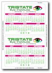Custom Year at a Glance Full Color Laptop Calendar