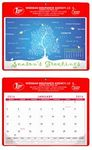 Custom Calendar Doodle Pads w/Season's Greetings Top Sheet & Metal Grommet - Non-Stock Colors