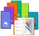 Custom Translucent Vinyl Cover Weekly Planner w/ Map & Gilded Edges/ 1 Color