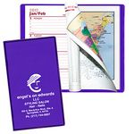 Custom Ultra Vibrant TEK Translucent Vinyl Weekly Planner w/ 1 Color Insert & Gilded Edges