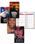Custom Stock Full Color Patriotic Cover Monthly Planner w/ 2 Color Insert w/ Map