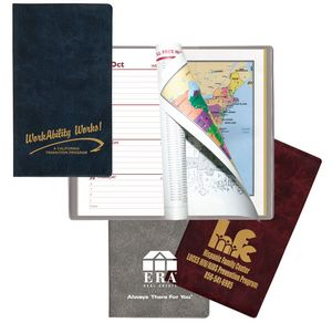 Weekly Planner w/ Executive Vinyl Cover (w/ Map & Gilded Edges) 1 Color Insert