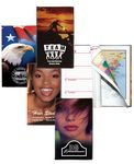 Custom Stock Full Color Patriotic Cover Weekly Planner w/ 1 Color Insert / Map & Gilded Edge