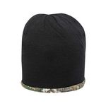 Custom Outdoor Cap Camo Knit Beanie (Blank)