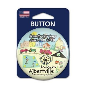 "1 Pack Carded 2.25"" Round Button"