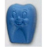 Jolly Tooth Stock Shape Pencil Top Eraser