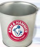 Custom 5 Quart Galvanized Metal Pail
