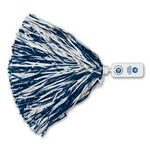 Custom 500 Strand Vinyl Pom Poms w/Rectangle/ Token Handle (Imprinted)