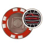 Custom Poker Chip w/ Removabel Ball Marker