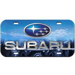 Custom Standard Background 1-Color Inlaid License Plate