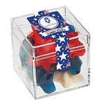 Custom Commemorative Candy Box w/ Patriotic Gummy Stars